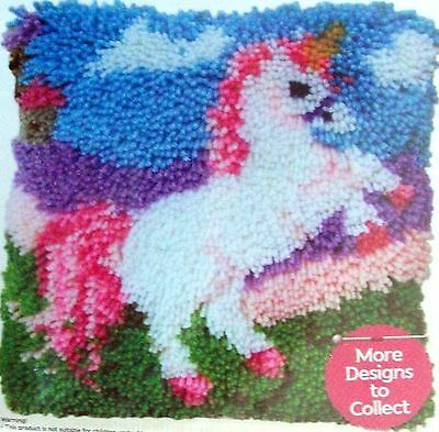 "Latch Hook  Making Pillow Kit  ""a Unicorn"" Latch Tool Included"