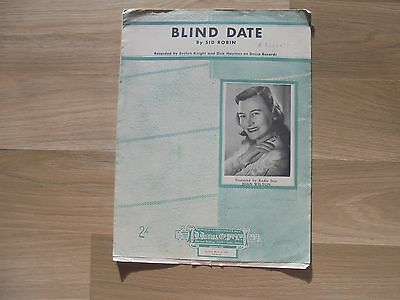 JOAN WILTON_Blind Date_used sheet music_WALL BLING_ships from AUS!_16M