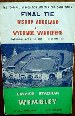 Bishop Auckland V Wycombe Wanderers 13/4/1957 Fa Amateur Cup Final