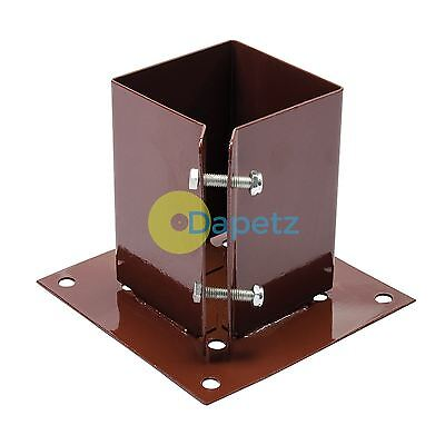 Bolt Down Post Shoe - 100 X 100mm - Corrosion Resistant - For Bolting Posts