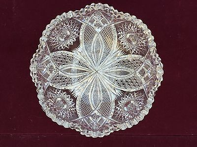 Exquisite American Brilliant Period Cut Glass  Bowl Raleigh Kelly & Steinman