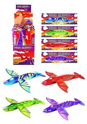 3,6,12 Dinosaur Flying Gliders Kids/Boys Party Loot Bag Filler Fun Toy Planes