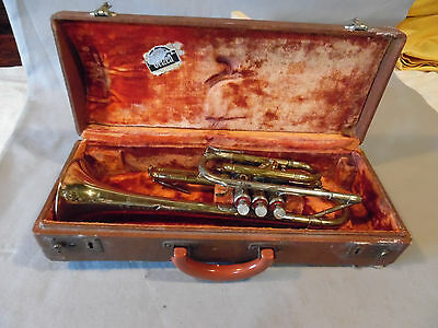 Vintage Getzen Cornet SN 7765 Brass Model 80 1940's Early 50's