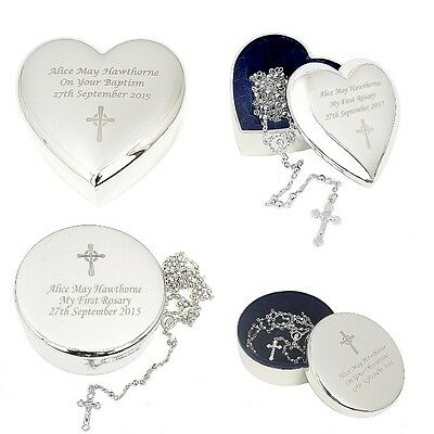 PERSONALISED Rosary Beads with ANY Message FREE Engraving First Holy Communion