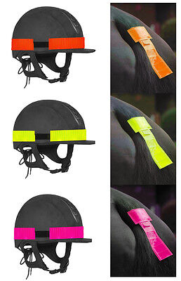 New Hi Viz Horse Rider Hat Band & Tail Band Reflective Hi Vis One Size Colours