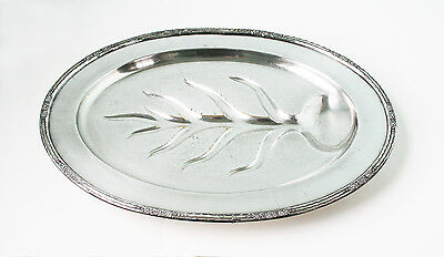 "International Silver Meat Platter  Large Size  18 3/8"" X 13 1/2"""