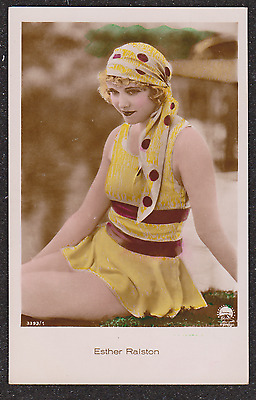 Vintage Esther Ralston Beautiful Actress Cinema Star Risque Real Photo Postcard