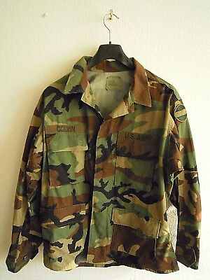 Original Army Feldjacke BDU Jacke Camouflage Woodland Medium Short