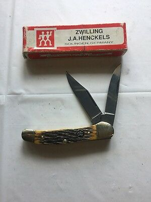 New In Box Zwilling J.A. Henckels Dual Blade Folding Pocket Knife HK-4-FOI