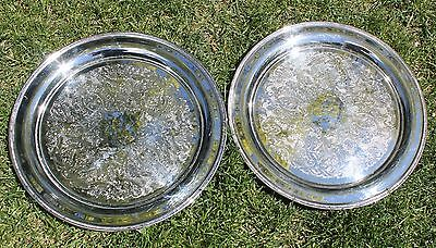 Vintage Oneida USA Silver Plated Serving Platters/ Trays (2)