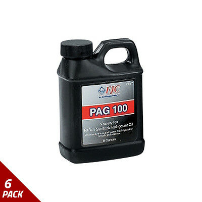 FJC Inc. 2487 PAG 100 R134a Synthetic Refridgerant Oil, 8oz [6 Pack]