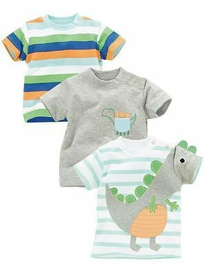 * Next * New With Tags Size Up To 1 Month Set Of 3 Baby Boy T-Shirts Tops