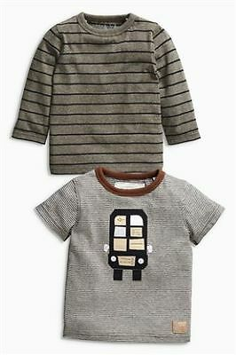 * Next * New With Tags Size 3 - 6 Months Set Of 2 Tops T-Shirts Baby Boy