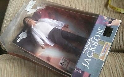 """Vintage 12"""" Michael Jackson Doll Sings Black or White boxed from Triumph 1995"""