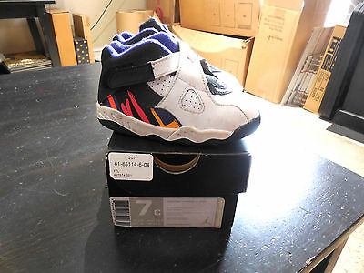 best sneakers f2b83 e5c9f Nike Air Jordan Retro 8 Bugs Bunny size 7c 7 C Boy Girl Youth Kid XIII