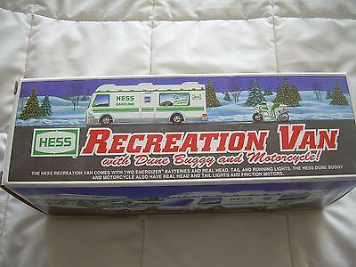 Hess Toy Recreational Van with Dune Buggy and Motorcycle from 1998