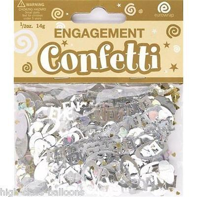 Engagement Ring Table confetti - Gold  & Silver Decoration Love FREE UK P&P