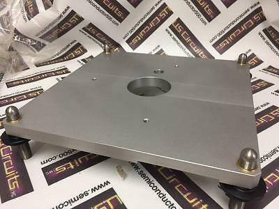"Huber Goniometer Mounting Base w/feet 9""x9"" Stainless for Diffraction Used"