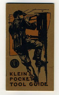 KLEIN'S POCKET TOOL GUIDE 1920s Hydro Linemen's Tool Catalogue Safety Equipment