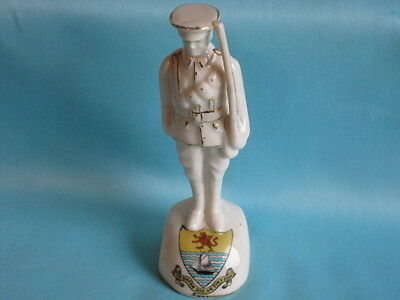 Arcadian China WW1 Soldier At Attention - RHYL crest