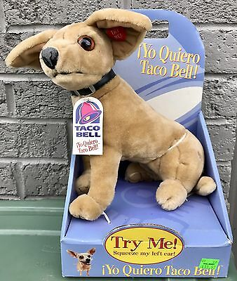 1998 Talking TACO BELL Advertising Stuffed Toy Chihuahua Dog ~ Fun-4-All - NIB
