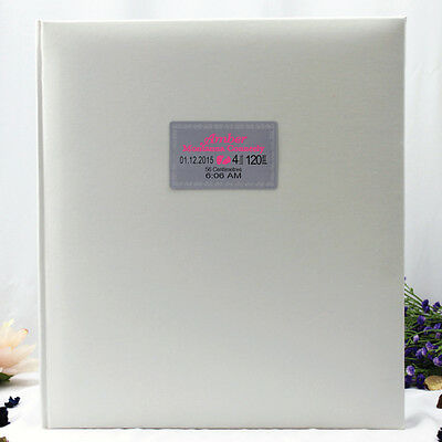 Baby Birth Details 500 Photo Album - White - Add a Name & Message