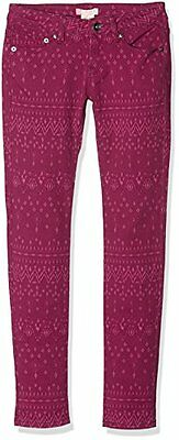 Sea Horse Jean ragazza Roxy Good Morning Ikat Red Plum taglia: 12 anni (V1o)