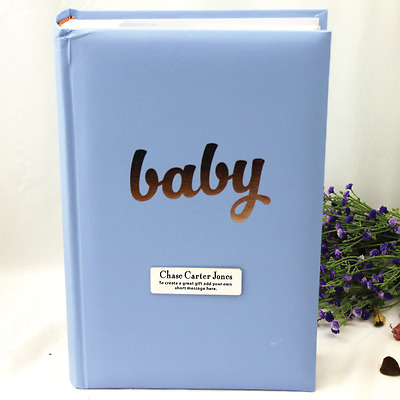 Personalised 'Baby' Boy Album - 300 - Add a Name & Message