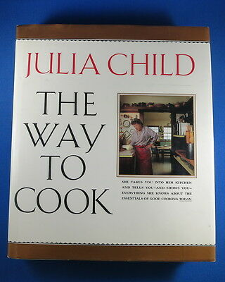 Julia Child First Edition Cookbook 1989 THE WAY TO COOK