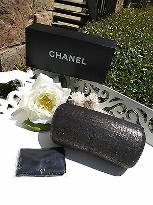 NEW CHANEL Sunglass Case 2017 100% Genuine, with Box and Cleaning Cloth