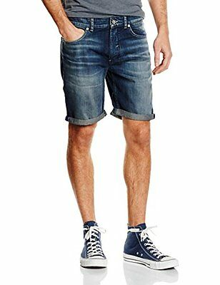 Selected Nalex-Shorts Uomo, Blu (Dark Blue Denim), Medium (P0S)