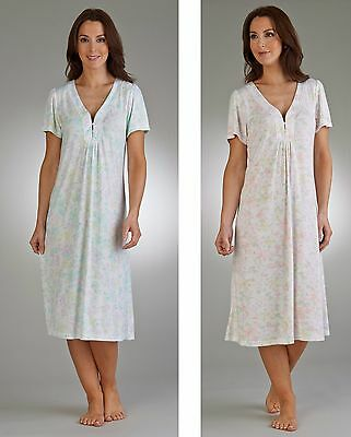 8788a5e86d SLENDERELLA SHORT SLEEVE Satin Nightdress With Brushed Lining ...