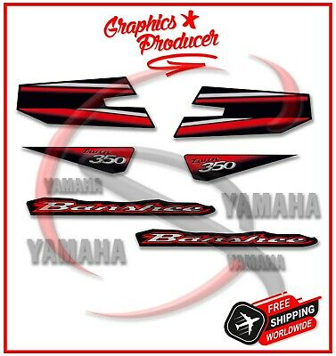 Yamaha Banshee 2003 Red Decals Reproduction Graphics Full Set Custom Design