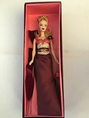 2003 Barbie Exotic Intrigue Red Gown Dress Doll Avon New In Box Collector B9795