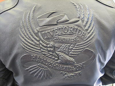 Harley Davidson Mens Leather Motorcycle Jacket, Size Small, Never Worn