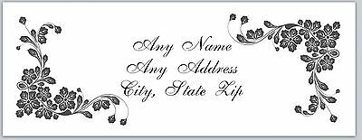 30 Personalized Return Address Labels Flowers Buy 3 get 1 free (c 917)