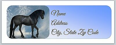30 Personalized Return Address Labels Horse Buy 3 get 1 free (hc7)