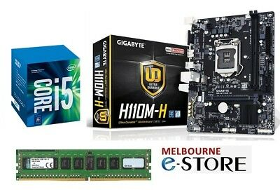 PC Upgrade Kit Quad Core i5 Kaby lake 7400 + Gigabyte Motherboard + 8GB DDR4 RAM