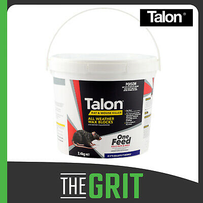 Talon Wax Blocks 2.4kg Rat Mouse Bait Poison Killer Rodenticide Pest Control