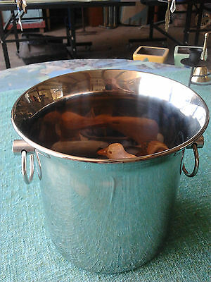 stainless steel ice bucket barware collectable German
