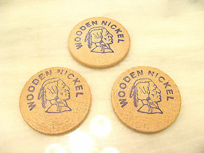 CALIFORNIA Pegasus Video WOODEN INDIAN HEAD TOKEN LOT 3 Good For Free Membership