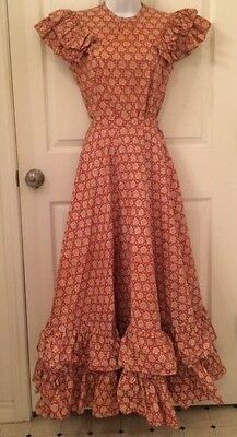 vintage 1930's skirt and blouse, cotton print Neiman Marcus tag