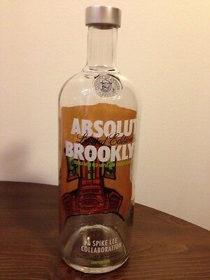 Absolut Brooklyn Limited Edition Empty Bottle Vodka