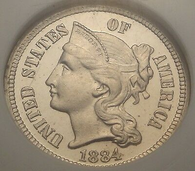 NGC PF66 CAMEO 1884 Three Cent Nickel Proof ~ Key Date CAM 3CN