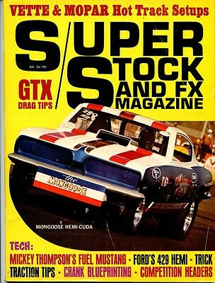 Super Stock and FX, August 1969 drag racing Hurst Olds Mickey Thompson Landy