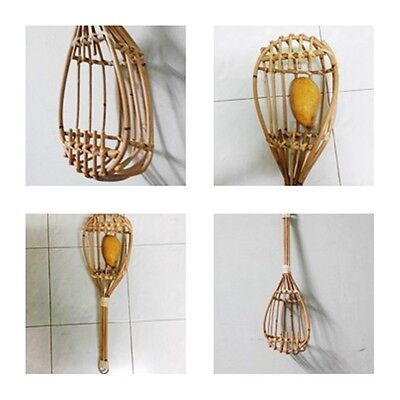 Bamboo Basket Pull Fruits from Tall Trees in the Garden Lemon/ Mango and More