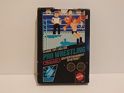 Pro Wrestling NES Black Label 3-Screw Variant in Box