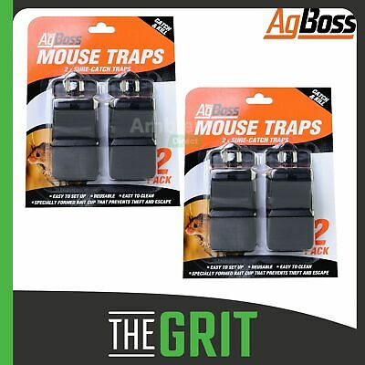 AgBoss Sure-Catch Mouse Mice Trap Reusable Rodent Traps Plastic