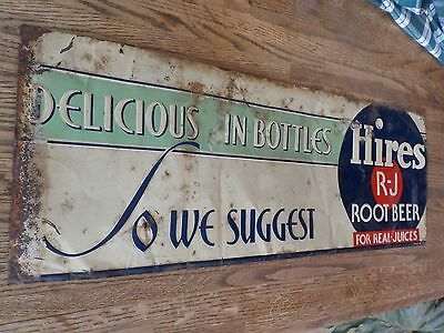 Original, Rare, 1930's, Embossed,Hires R-J Root Beer Sign, Original Colors