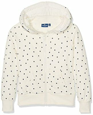 TOM TAILOR Kids Sweatjacket with Allover Print, Felpa Bambina, Beige (r7s)